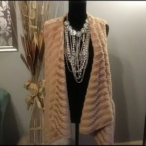 G by Giuliana Rancic Draped Faux Fur Vest